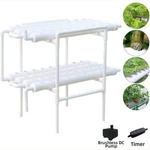 Hydroponic Grow Kit Soilless Growing Systems Vegetable Planting (72Site 8Pipe, 2 Layers)
