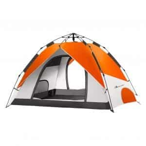MOON LENCE Pop-Up 4 Person Family Tent for Camping