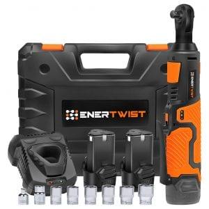 Enertwist ET-RW-12B Upgraded Cordless Electric Ratchet Wrench