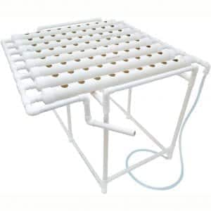 INTBUYING 72 Holes Hydroponic Site Grow Kit Garden Plant System with Nest Basket Water Pump and Sponge