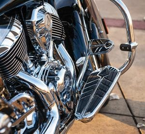 Kuryakyn 5650 Motorcycle Foot Control Component- Spear Driver Floorboard Inserts for 2014-19 Indian Motorcycles, Chrome, 1 Pair