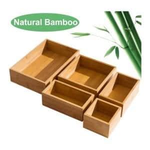 5 Piece Bamboo Drawer Organizer