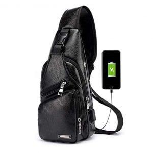 Lucien Hanna Men's Leather Sling Bag