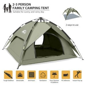 BFULL Instant Pop-Up Family Tent for Camping