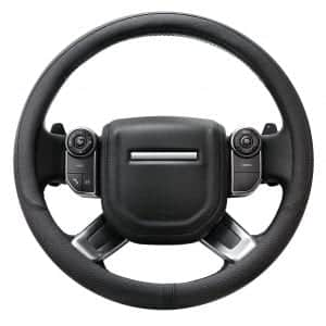 AULLY PARK Universal Fit Genuine Leather Steering Wheel Wrap