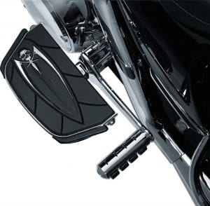 Kuryakyn 4572 Motorcycle Foot Control Component- Zombie Skull Passenger Board Floorboard Covers for 1986-2019 Harley-Davidson Motorcycles, Chrome, 1 Pair