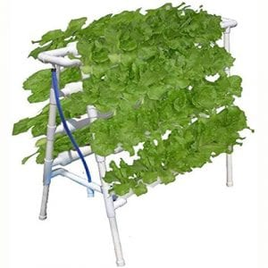 T-Newtop 72 Holes Plant Grow Hydroponic Ladder Soilless Cultivation Equipment Growth Hydroponic Water Pipe Planting Rack with Controller Planting Basket Tool Kit System Balcony Planting Rack