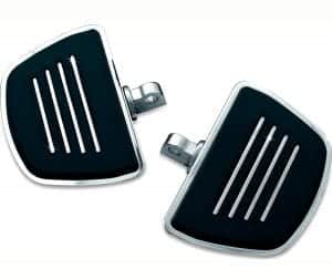 Kuryakyn 4392 Motorcycle Foot Control Component- Premium Mini Board Floorboards with Male Mount Adapters, Chrome, 1 Pair