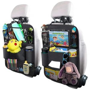 OYRGCIK Car Backseat Organizer with a Tablet Holder, 2 Pack