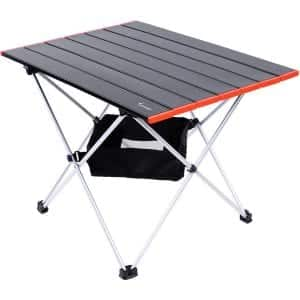 Sportneer Ultralight Camping Side Table with a Mesh Storage Bag