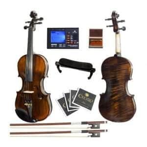 Mendini MV500+92D Solid Wood Violin