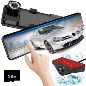 Mirror Dash Cam Front and Rear,AKEEYO Dash Camera for Cars with Sony Sensor 1080P 140° Wide Angle Dual Cam Parking Monitor
