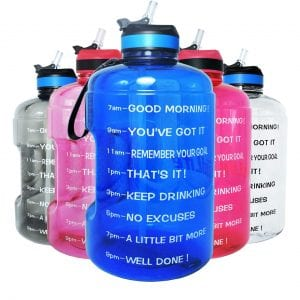 Quifit BPA Free Reusable Water Gallon with Handle