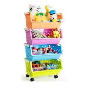 Magdesigner Kids' Toys Organizer with Wheels