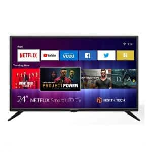 "NT North Tech 24"" LED HD Smart TV with Wi-Fi"
