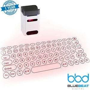 Wireless Laser Projection Bluetooth Virtual Keyboard and Mouse, Ultra-Portable Mini Typewriter Accessory for iPhone, iPad, Android, Windows, Mac, Smart Phones