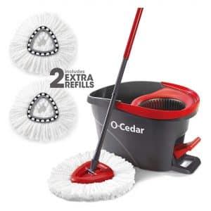 O-Cedar Microfiber Easywring Spin Mop and Bucket