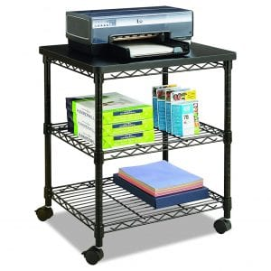 Safco Products 5207BL Wire Machine Stand, Black