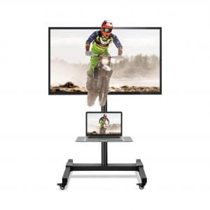 5Rcom Mobile TV Cart Rolling TV Stand with Wheels