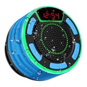 BassPal-IPX7-Waterproof-Shower-Speaker-w-LED-Display