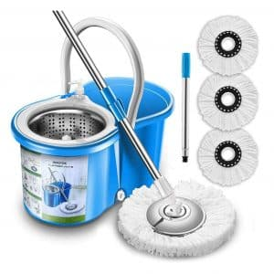 Aootek Stainless Steel 360 Degrees Spin Mop and Bucket