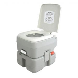Serenelife Outdoor Travel Toilet with Level Indicator