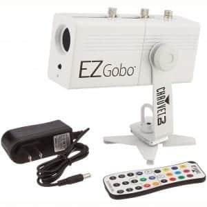 CHAUVET DJ EZGOBO Battery-Powered LED Gobo Projector w:Manual Zoom DJ Effect Light