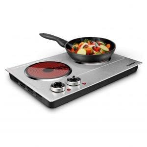 CUSIMAX 1800W Dual-Control Cooktop