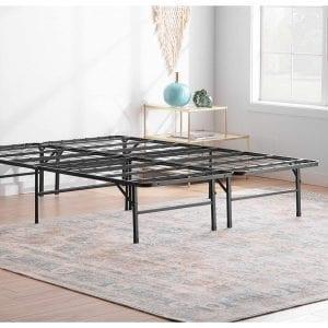 Linenspa-14-Inches-Folding-Metal-Platform-Bed-Frame