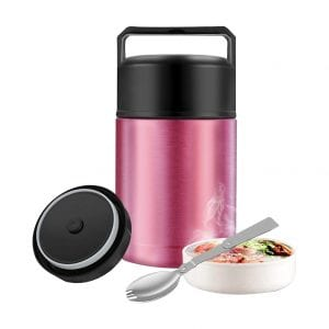 SSAWcasa Food Jar with Foldable Spoon