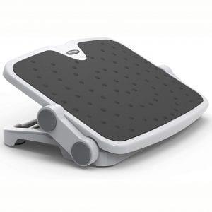 AboveTEK Ergonomic Footrest with 2 Adjustable Height Positions, 30 Degree Tilt Angle, Under Desk Foot Rest for Home & Office Desk Accessories, Non-Skid Feet