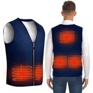 ISOPHO USB Heated Vest with 3 Heating Levels (Black & Blue)