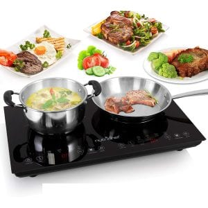NutriChef 120V Portable Cooktop with a Kids Safety Lock