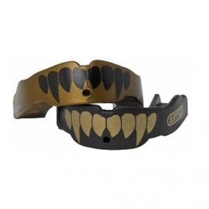 Battle Fangs Football Protector Mouthpiece with a Removable Strap, 2 Pack
