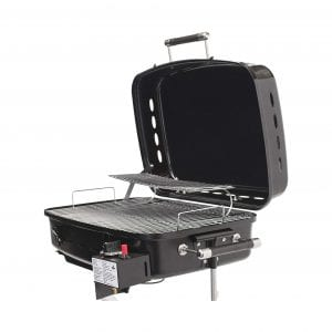 Flame King Black RV Motorhome Gas Grill