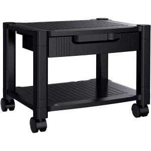 HUANUO Height-Adjustable Printer Stand with Storage Drawers
