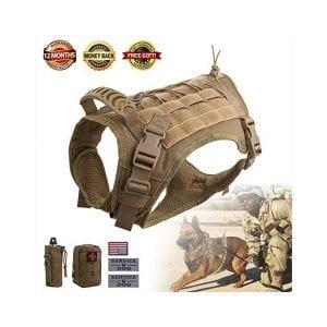 Hanshengday Molle Tactical Dog Harness