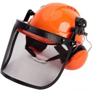 TODOCOPE Chainsaw Helmet with Ear Muffs and Mesh Face Shield
