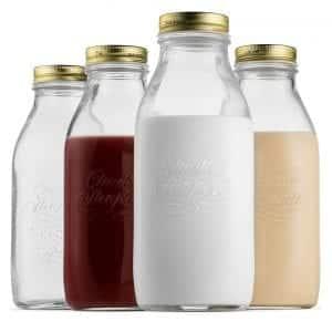 Bormioli Rocco Quattro 33.75 Oz with Airtight Lid Milk Bottles