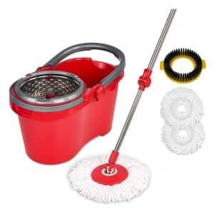 HAPINNEX Spin Mop Wringer Bucket Mop Set