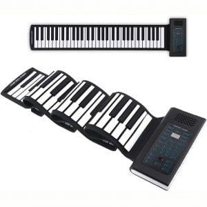 Roll Up Piano Folding Portable Keyboard | 61Keys | Music Gifts for Women Men Girl Boys Kids | Educational Toys Gift Set