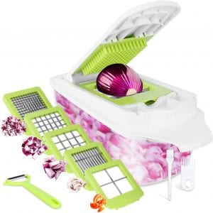 Sedhoom 12-In-1 Vegetable Chopper with Container