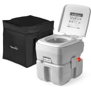 Alpcour 5.3 Gallon Tank Portable Travel Toilet