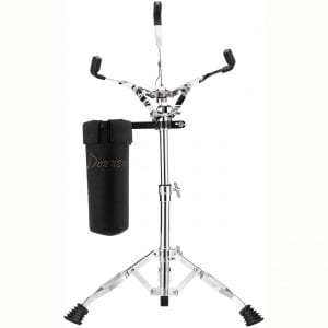 Donner Snare Drum Stand Adjustable, Double Braced, with Drum Stick Holder Fit 10''-14'' Dia Drums, Height Range 14.2-22.8 Inches