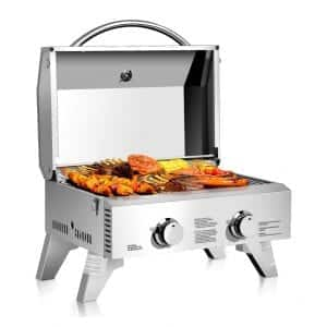 Giantex Two-Burner Camping Tabletop Gas Grill