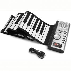 Lujex 61 Keys Roll Up Piano Upgraded Portable Rechargeable Electronic Hand Roll Piano with Environmental Silicone Piano Keyboard