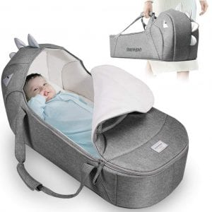 SUNVENO Baby Bed & Baby Lounger, Moses Basket Bassinet Bedside Sleeper Newborn Infant Travel Bed Carrycot
