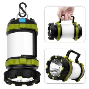Wsky Rechargeable Flashlight Camping Lantern