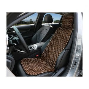 EXCEL LIFE Natural Wood Beaded Seat Cover Massaging Cool Cushion