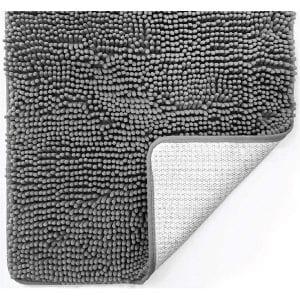 Gorilla Grip Bathroom Rug Mat, Gray